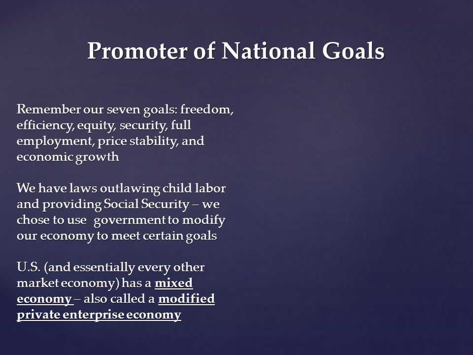 Promoter of National Goals