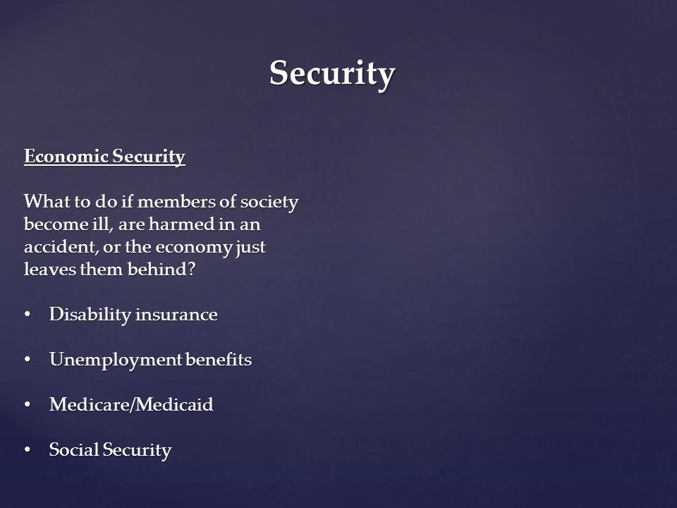 Security Economic Security