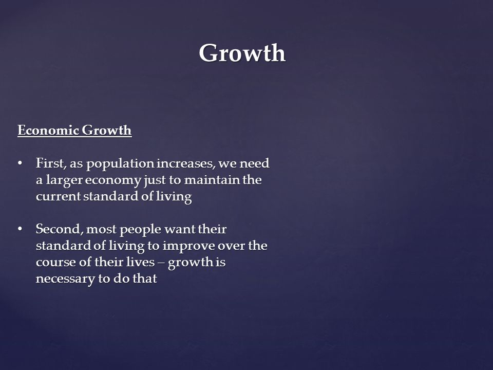 Growth Economic Growth