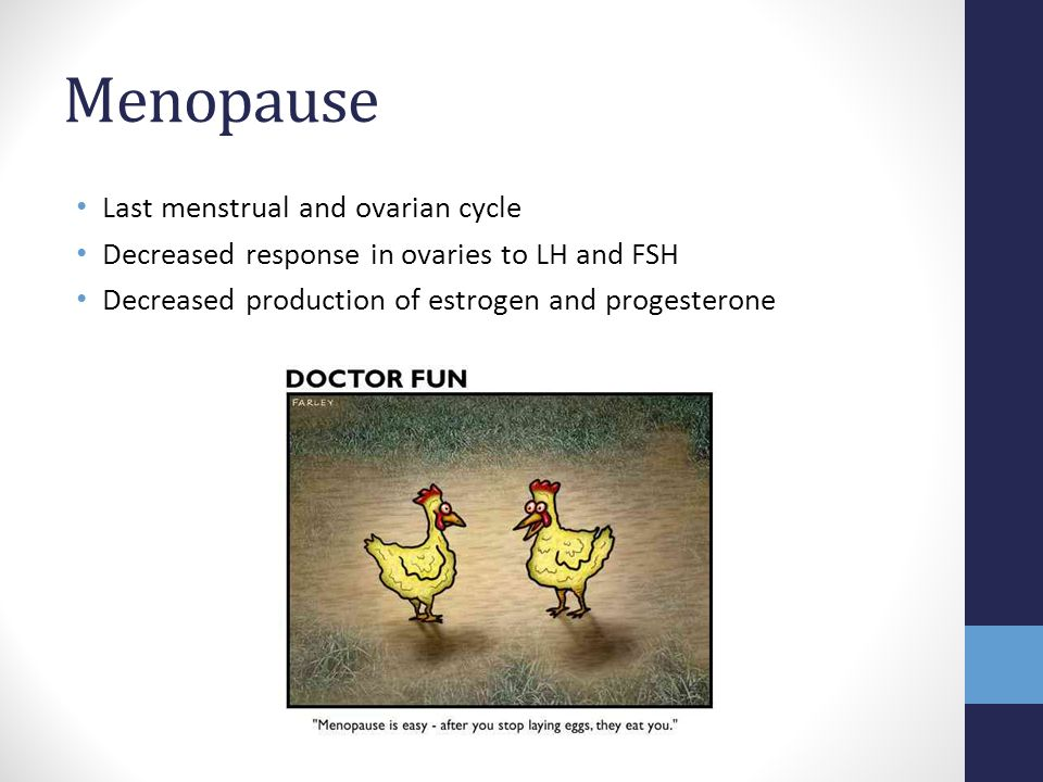 Menopause Last menstrual and ovarian cycle