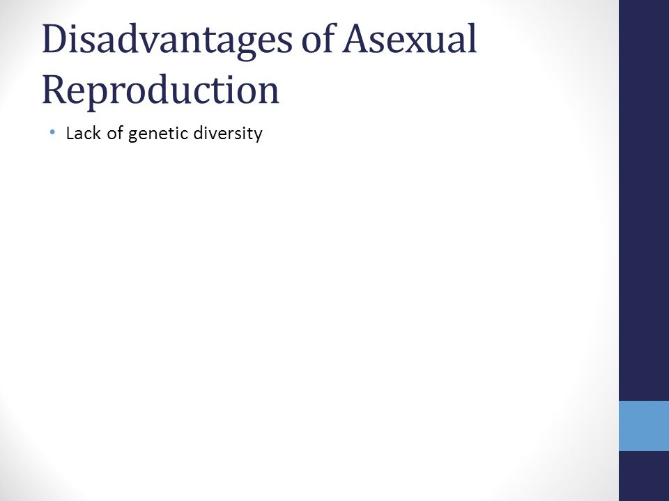 Disadvantages of Asexual Reproduction