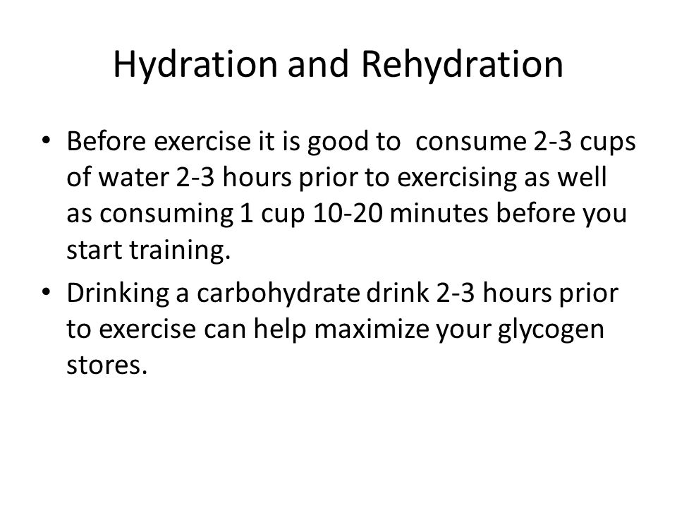 Hydration and Rehydration
