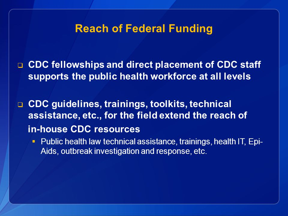 Reach of Federal Funding
