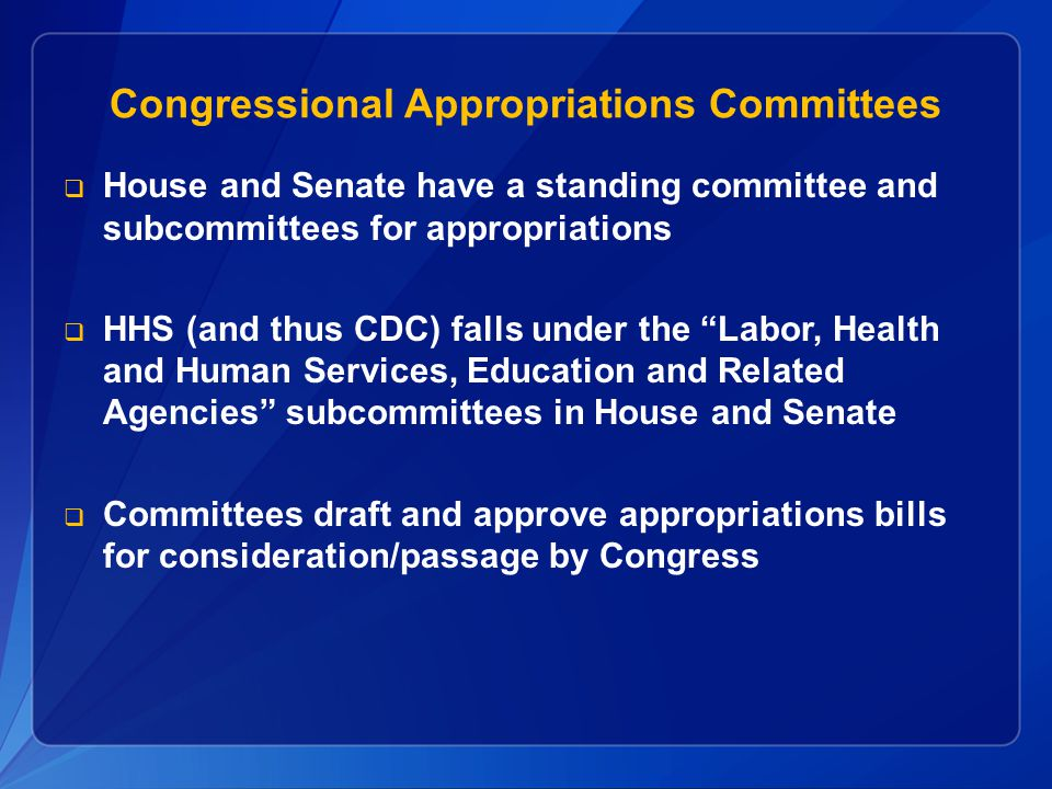 Congressional Appropriations Committees