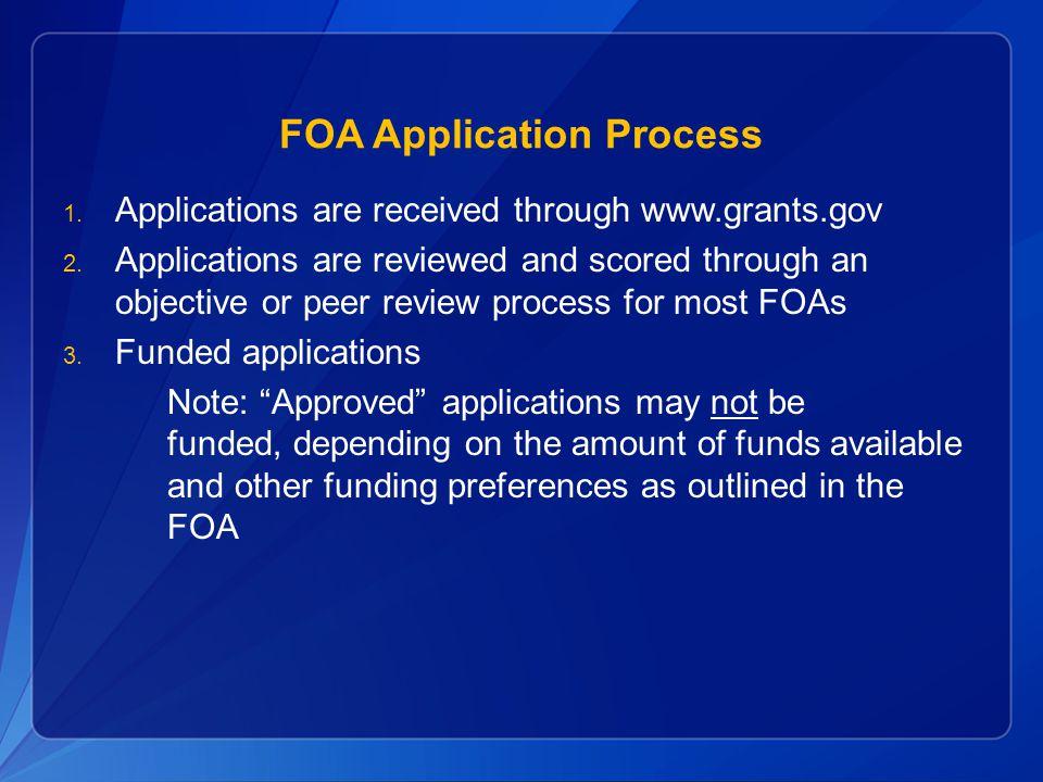 FOA Application Process