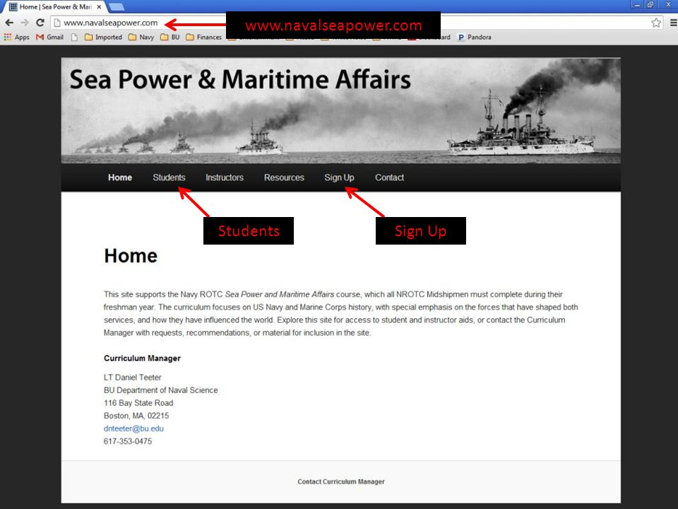 www.navalseapower.com Students Sign Up