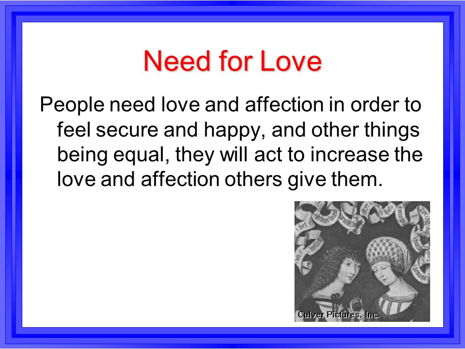 Need for Love