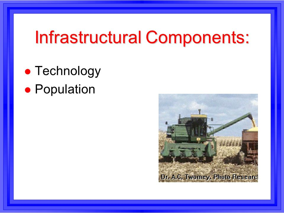 Infrastructural Components: