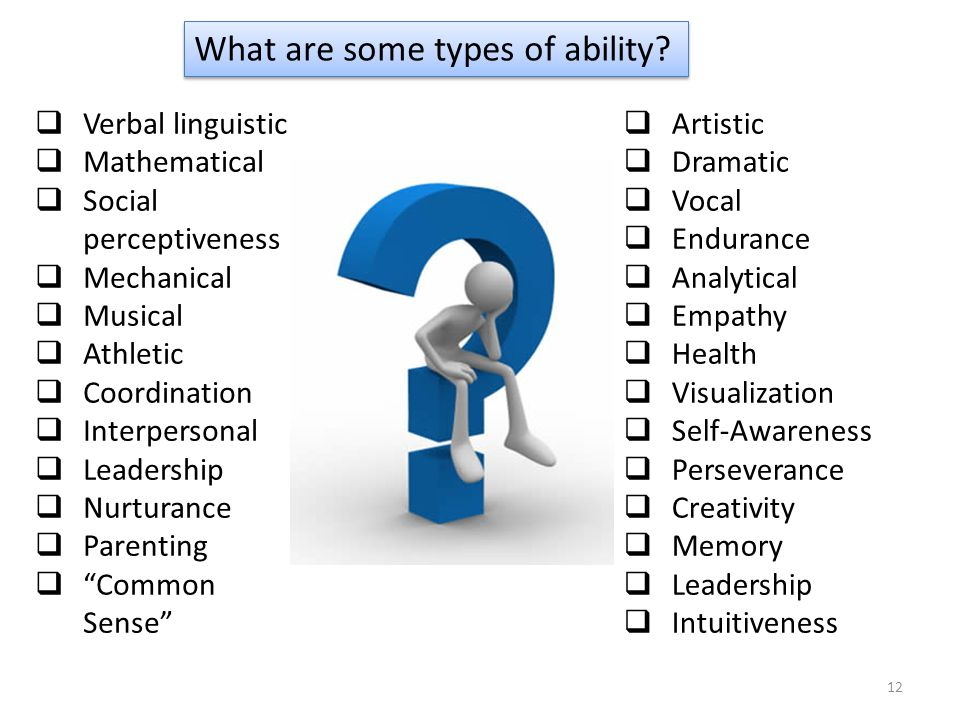 What are some types of ability