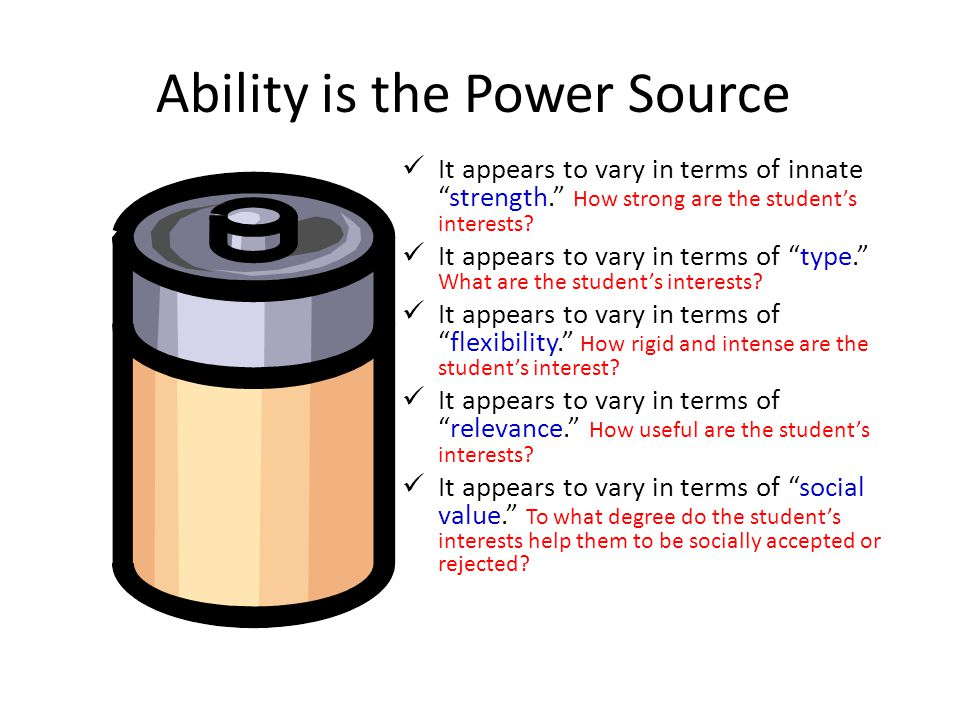 Ability is the Power Source