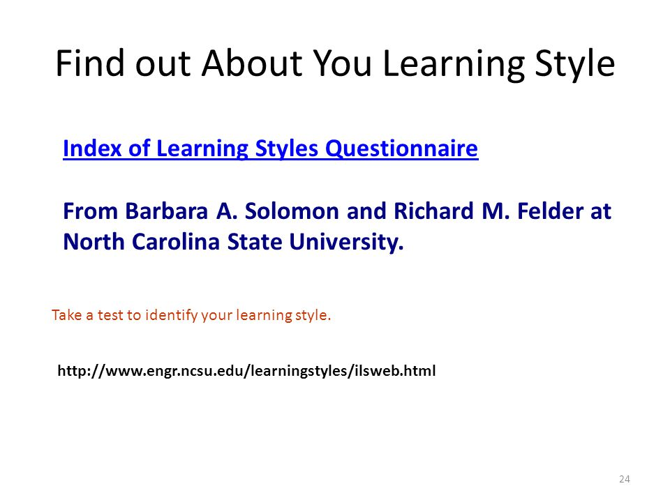 Find out About You Learning Style