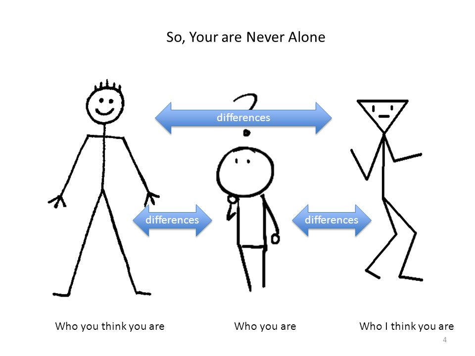 So, Your are Never Alone differences differences differences