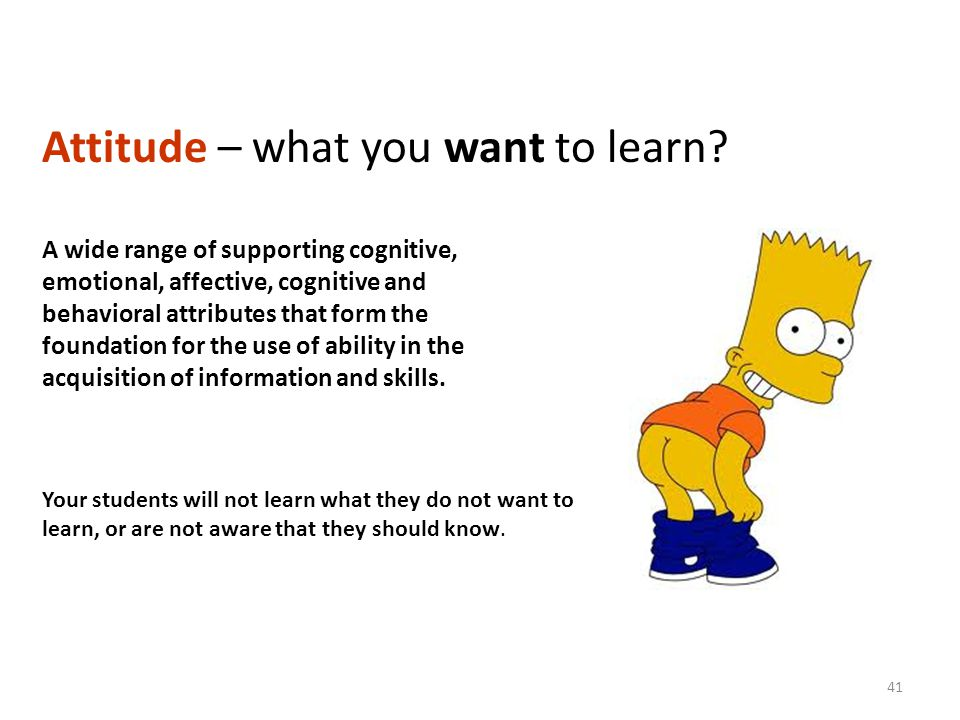 Attitude – what you want to learn