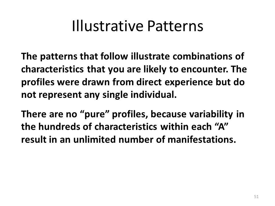 Illustrative Patterns