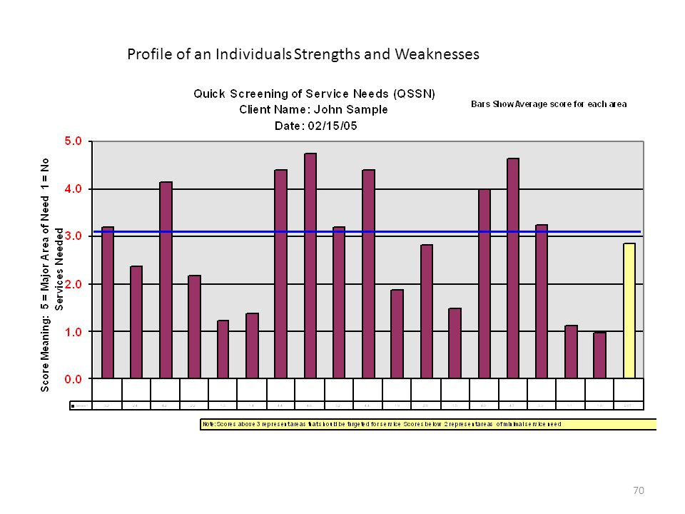 Profile of an Individuals Strengths and Weaknesses