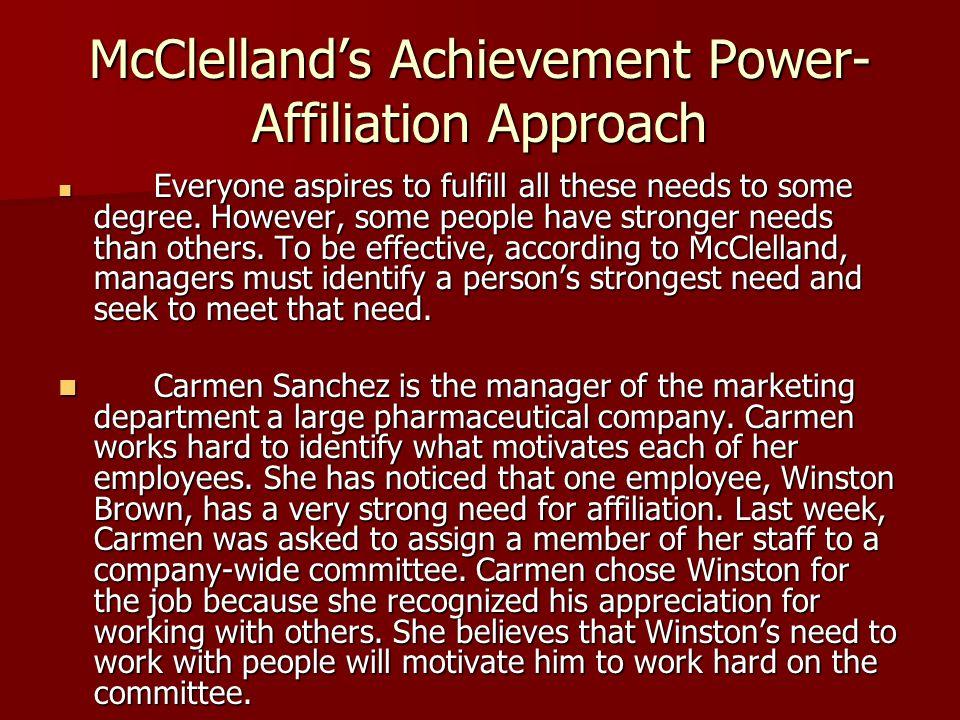 McClelland's Achievement Power-Affiliation Approach