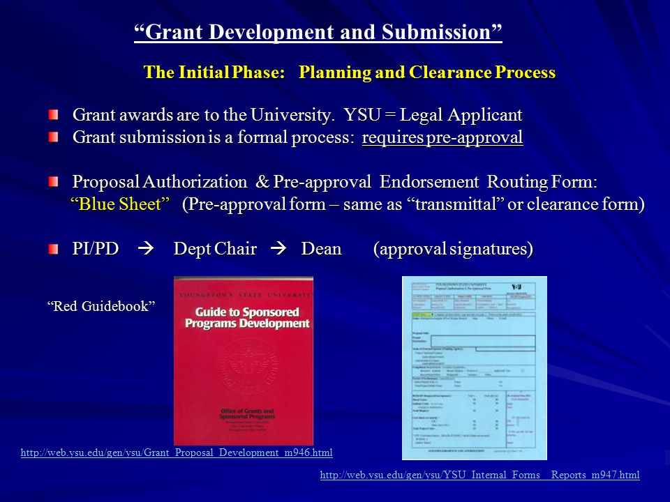 Grant Development and Submission