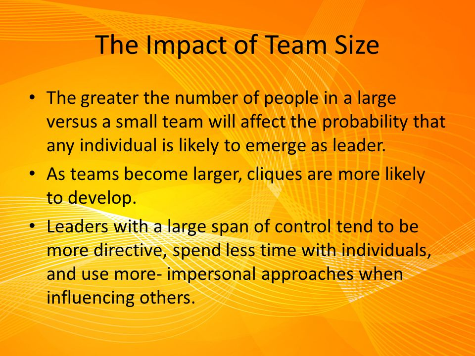 The Impact of Team Size