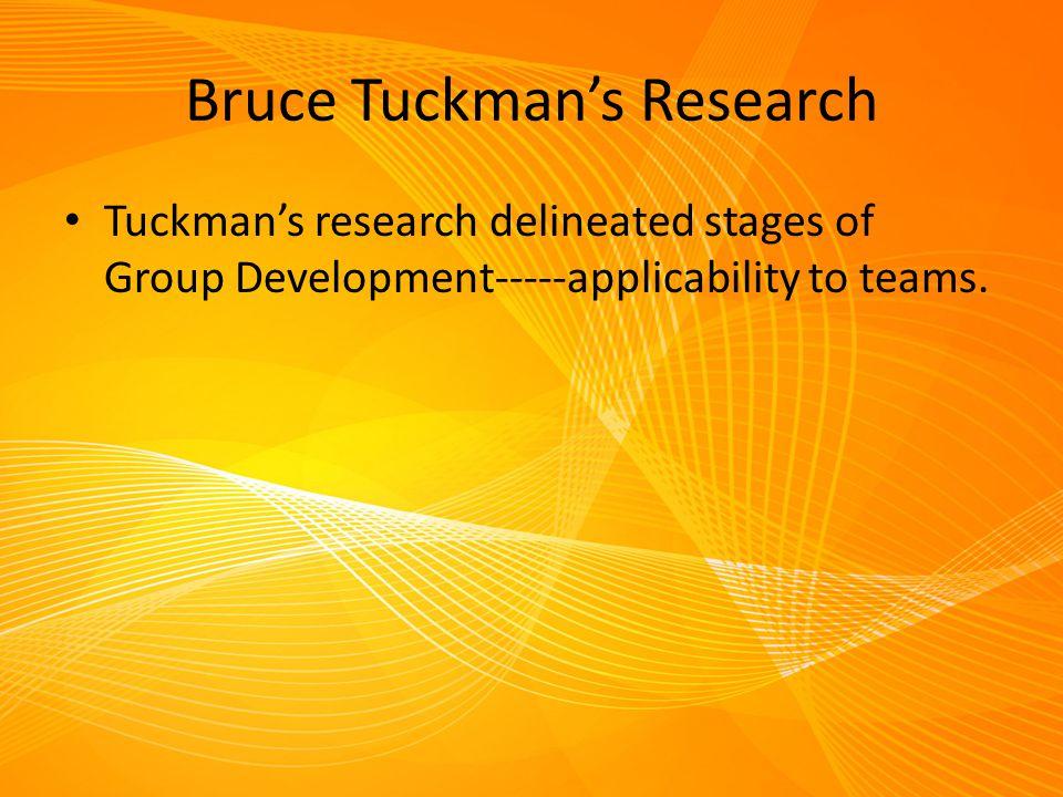 Bruce Tuckman's Research