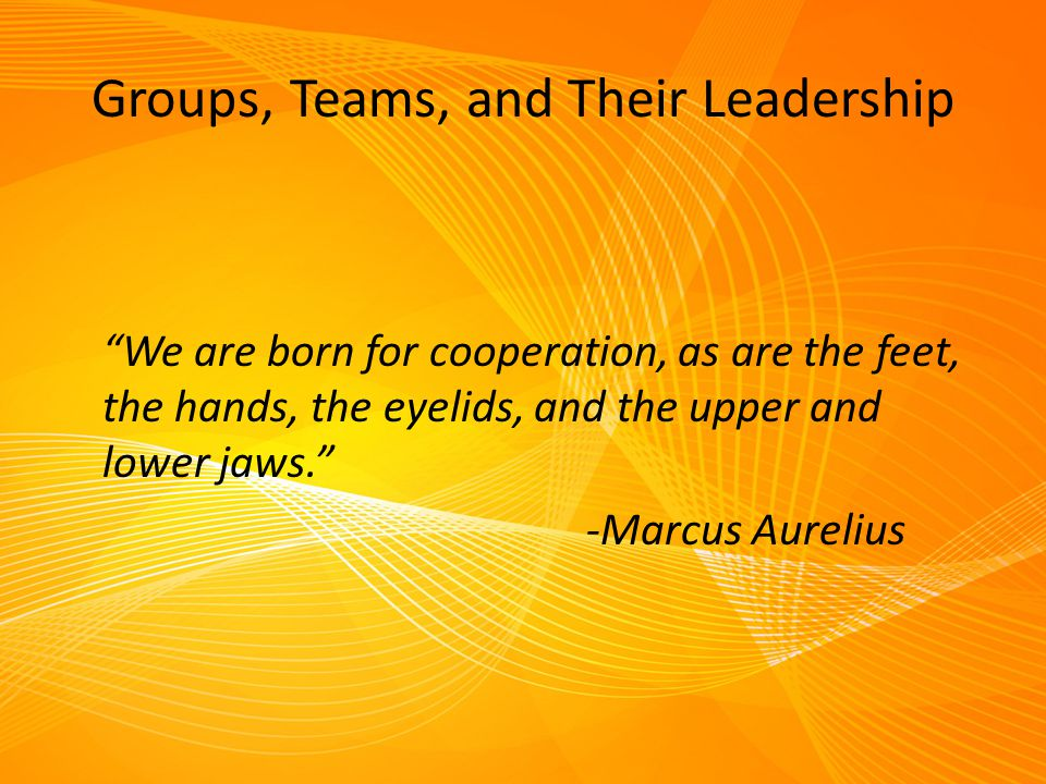 Groups, Teams, and Their Leadership