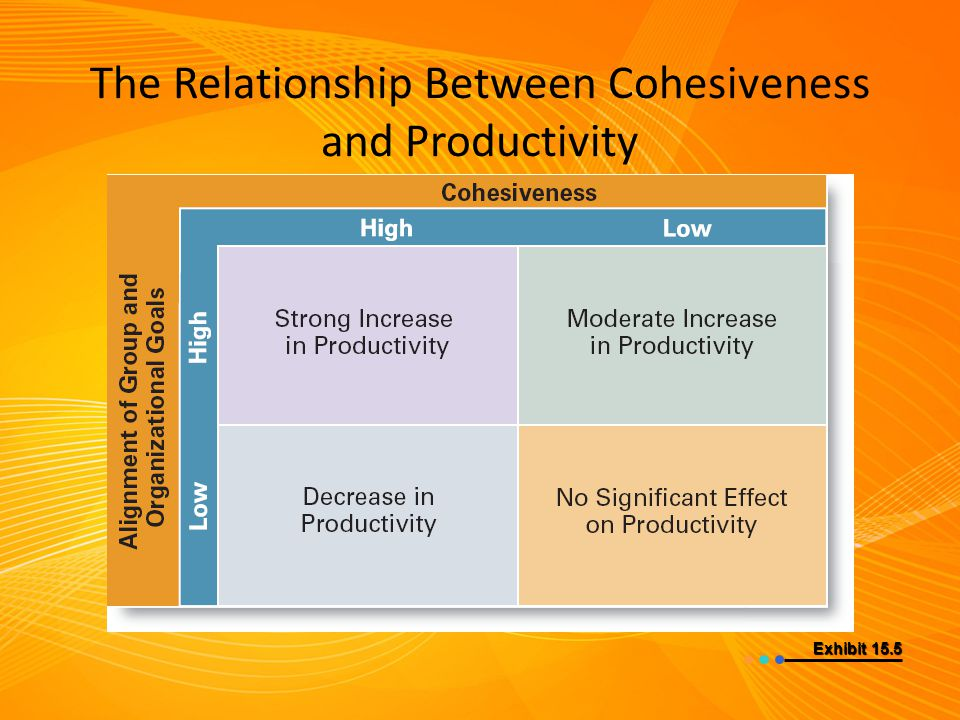 The Relationship Between Cohesiveness and Productivity