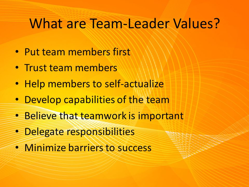 What are Team-Leader Values