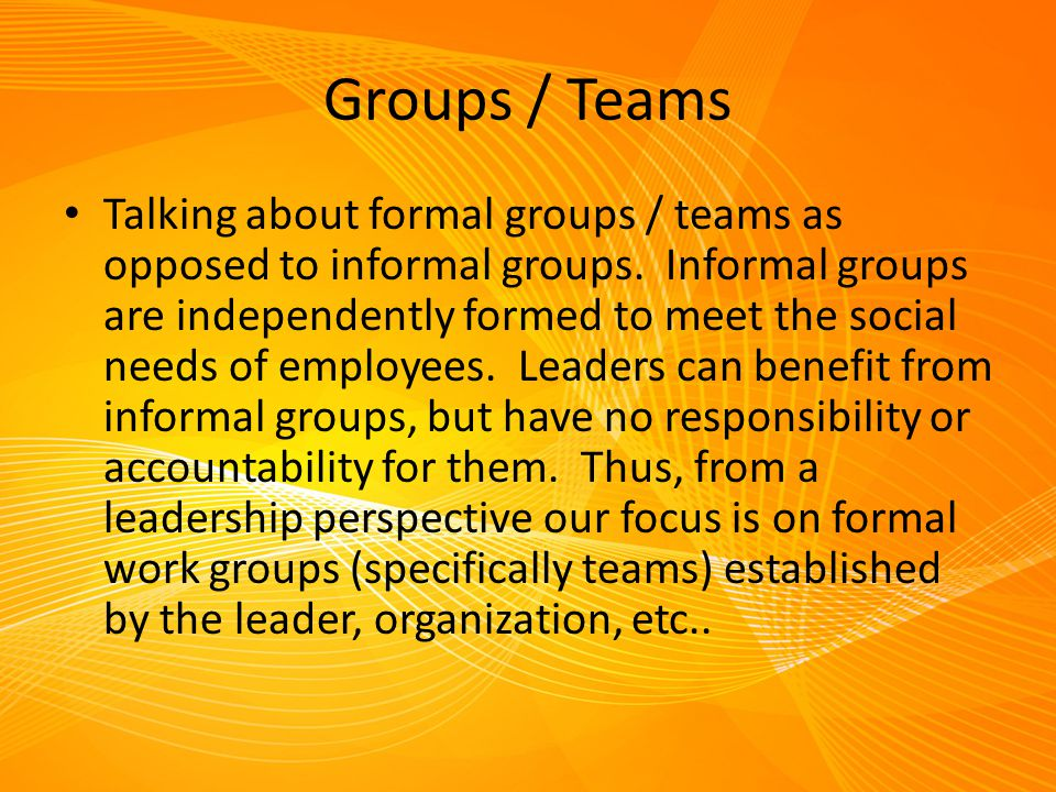 Groups / Teams