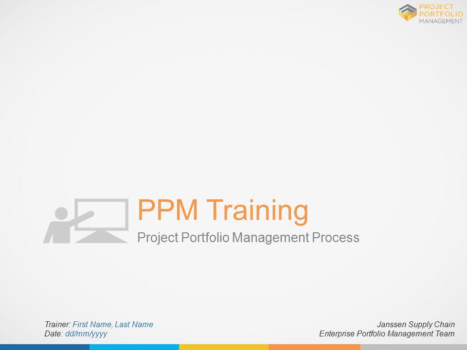 PPM Training Project Portfolio Management Process