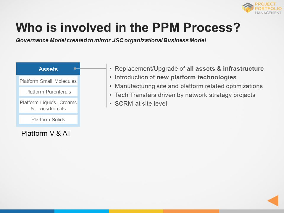 Who is involved in the PPM Process
