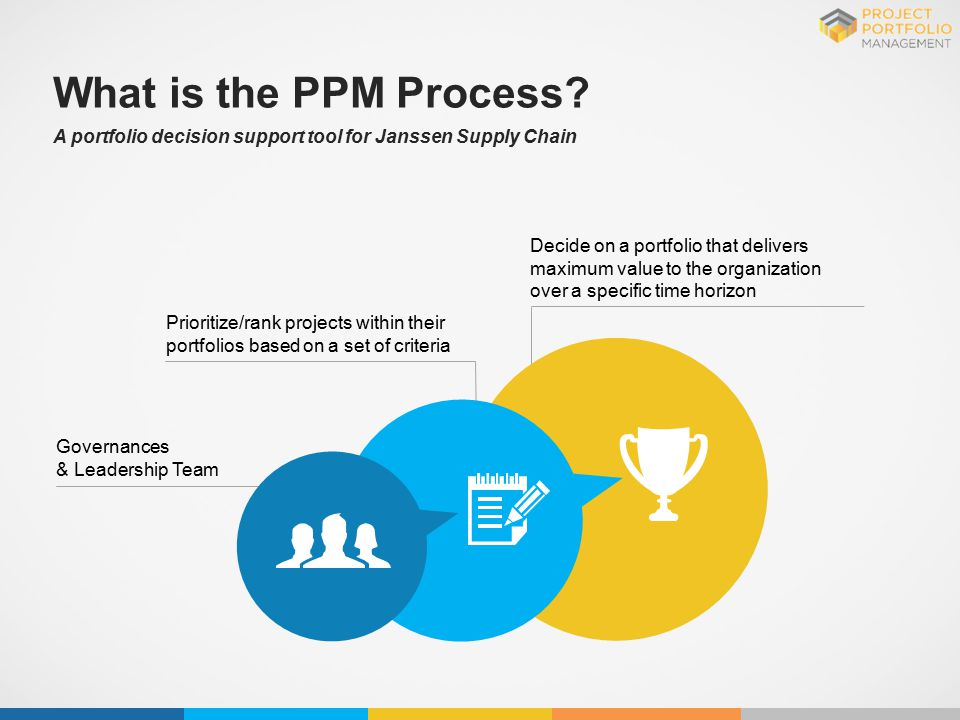 What is the PPM Process A portfolio decision support tool for Janssen Supply Chain.