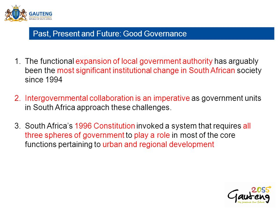 Past, Present and Future: Good Governance