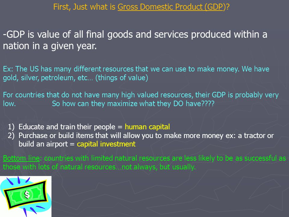 First, Just what is Gross Domestic Product (GDP)