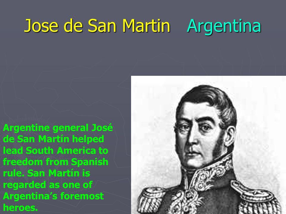 Jose de San Martin Argentina