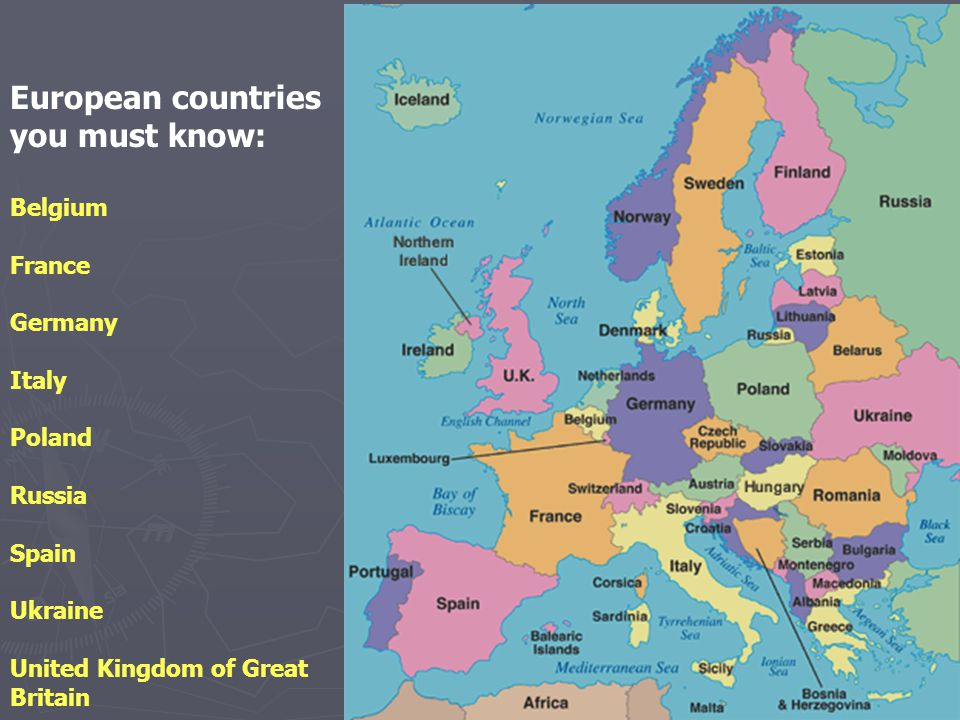 European countries you must know:
