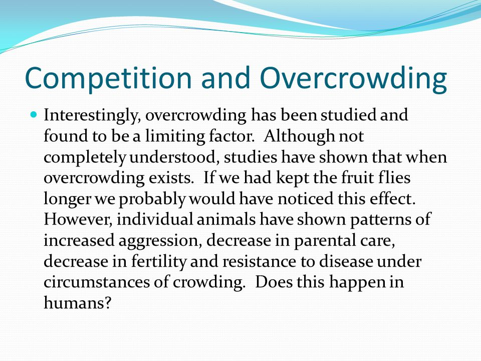 Competition and Overcrowding