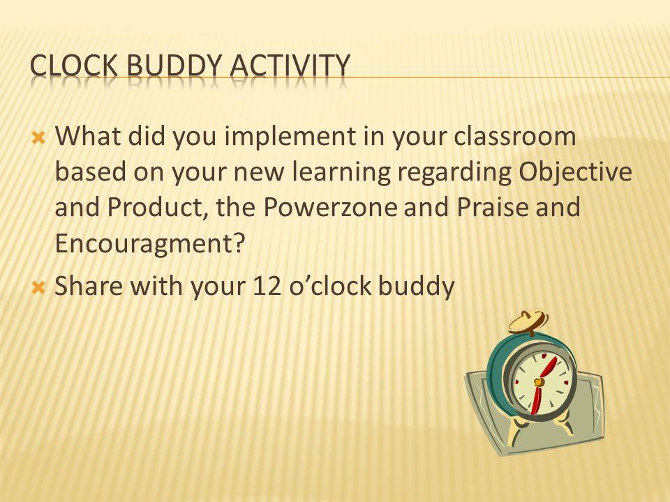 Clock Buddy Activity