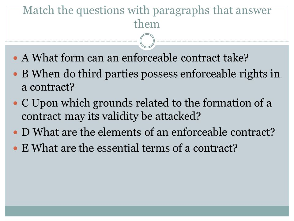 how to answer a contract law problem question on consideration
