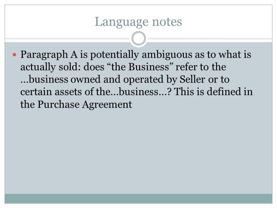 Language notes