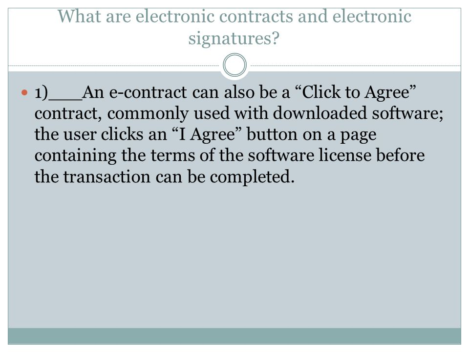 What are electronic contracts and electronic signatures