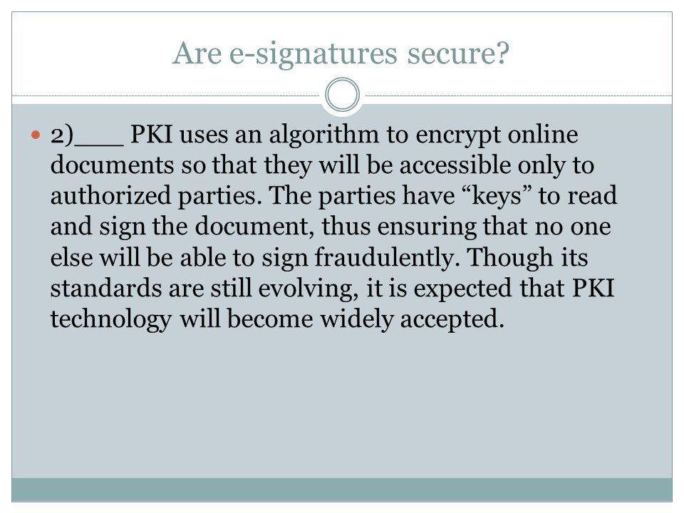 Are e-signatures secure