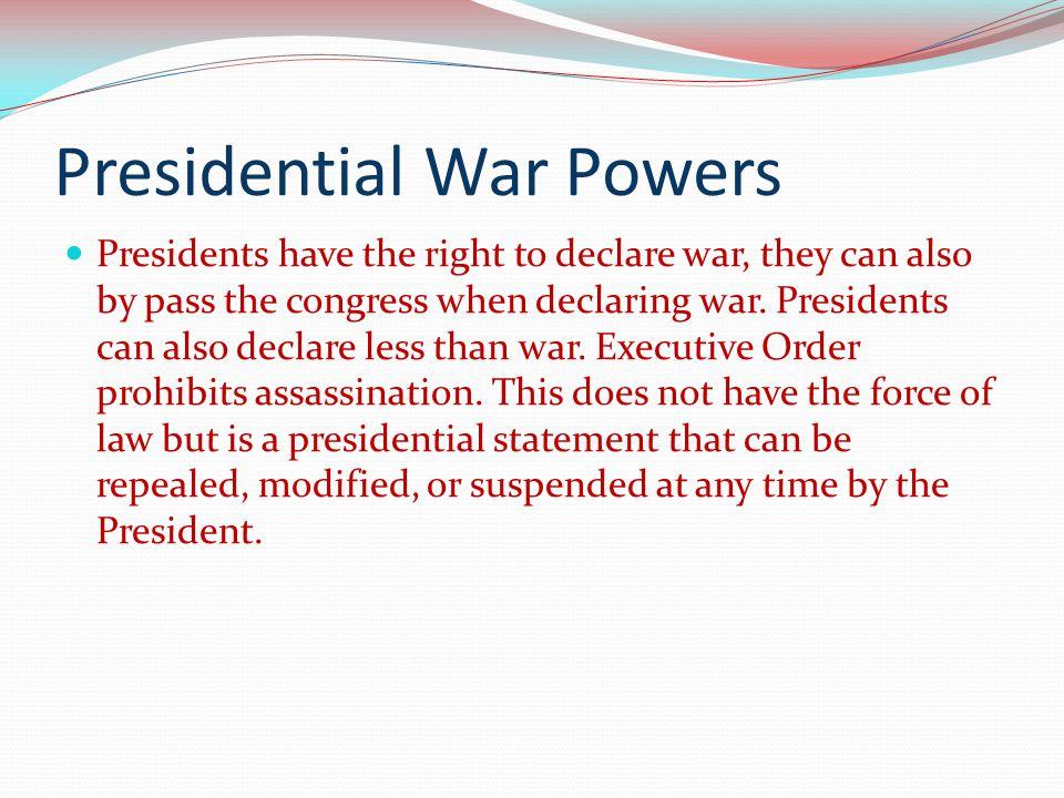 Presidential War Powers