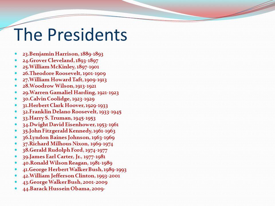 The Presidents 23.Benjamin Harrison, 1889-1893