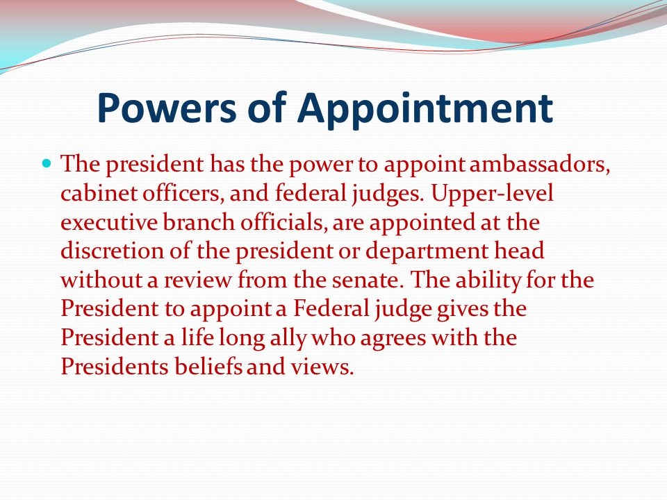 Powers of Appointment