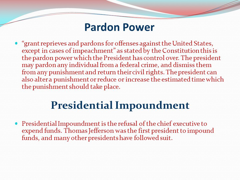 Presidential Impoundment