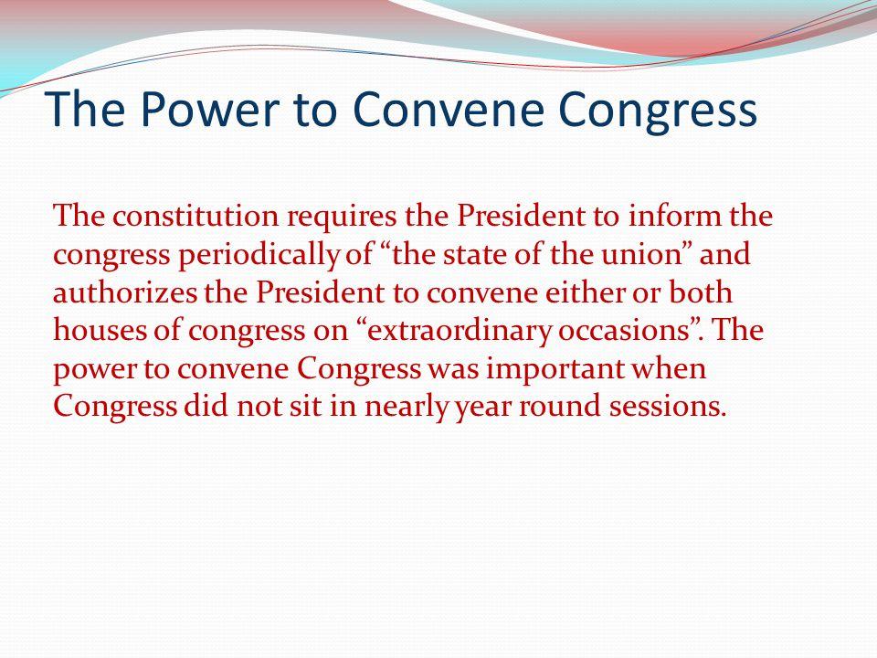 The Power to Convene Congress