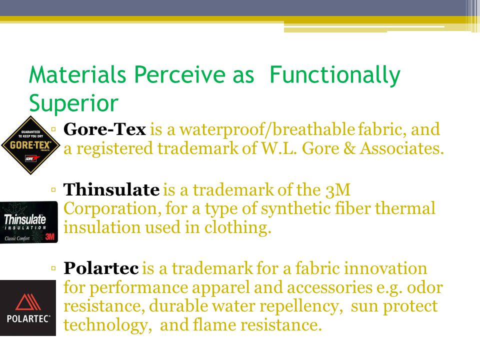 Materials Perceive as Functionally Superior