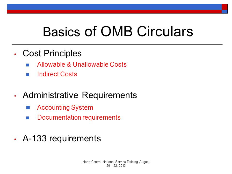 Basics of OMB Circulars