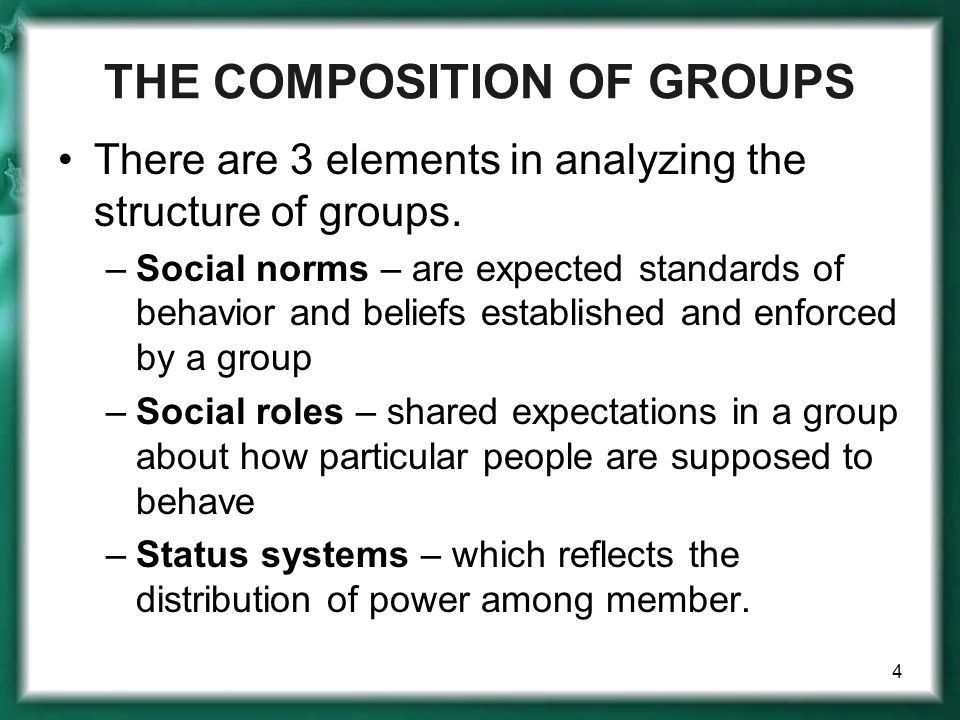THE COMPOSITION OF GROUPS