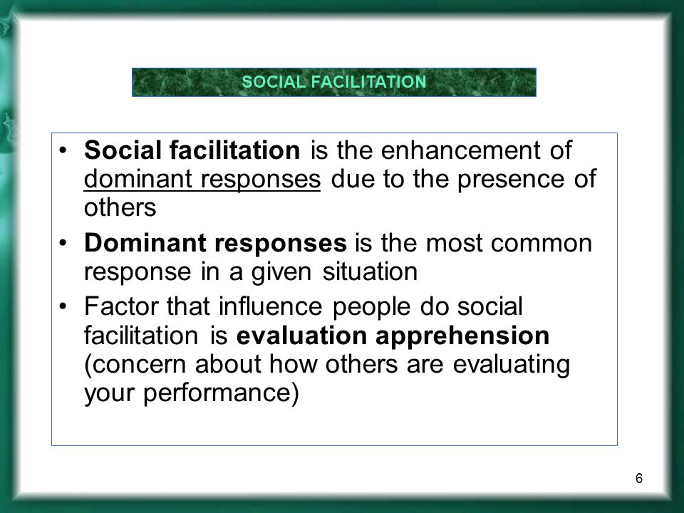 Dominant responses is the most common response in a given situation