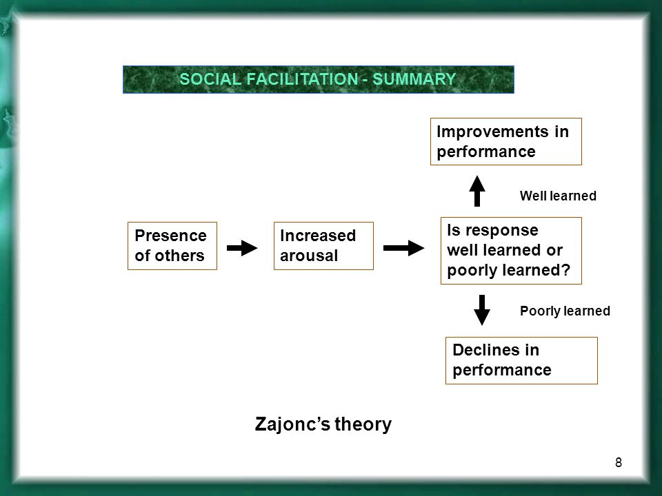 SOCIAL FACILITATION - SUMMARY